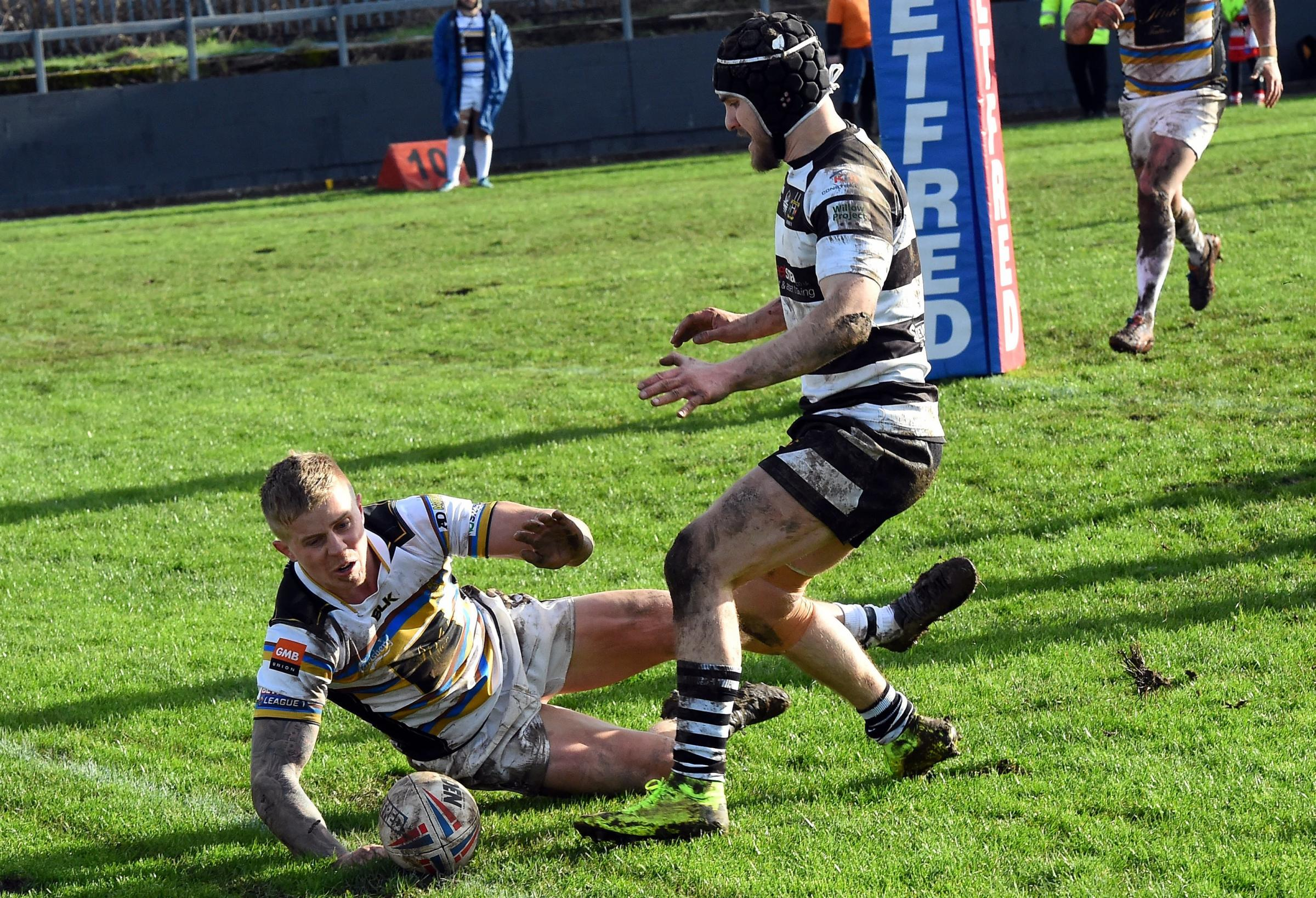 HAT-TRICK HERO: Whitehaven's Callum Phillips