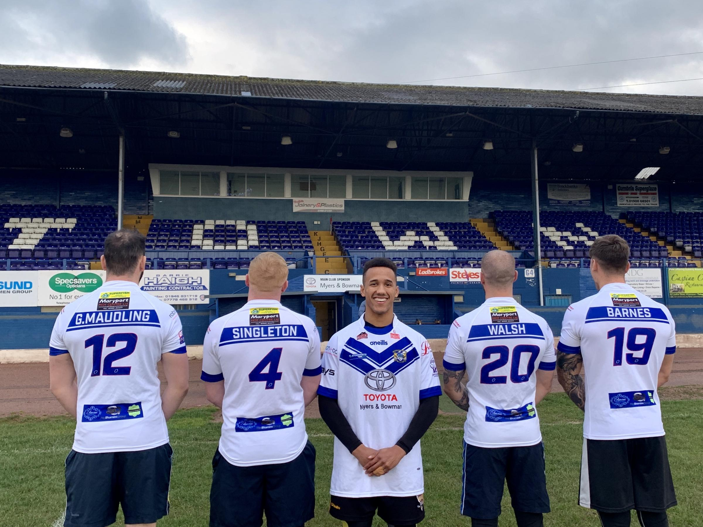 FRIDAY-NIGHT DATE: All roads lead to Headingley on the date displayed by the Workington Town players ahead of their trip to take on Leeds Rhinos