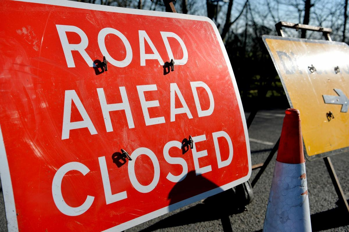 PLAN AHEAD: Road closed sign. Picture: Tom Kay