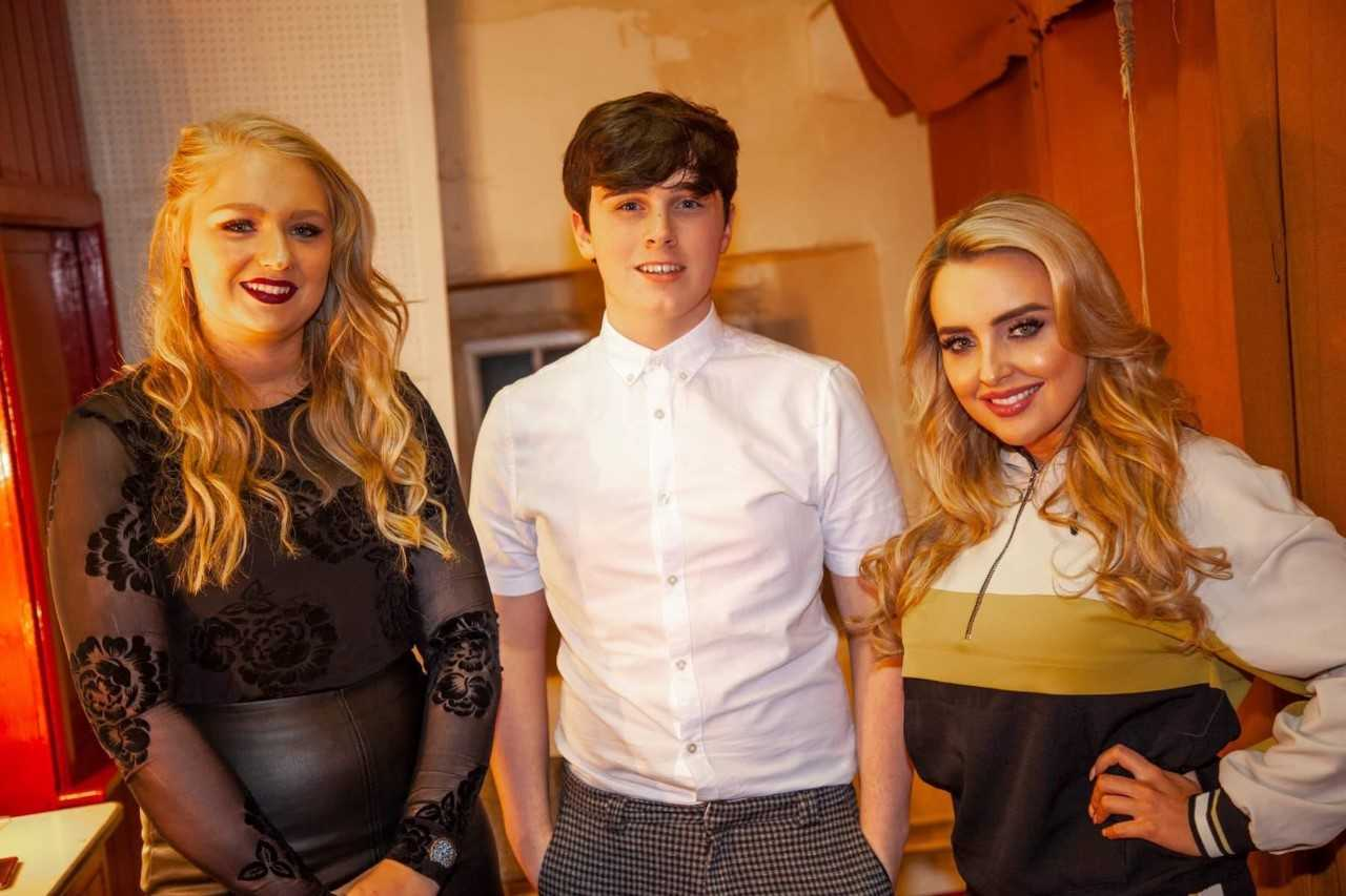 SUCCESS: Zoe Warren (left), Oliver Hodgson and Holly Ellison