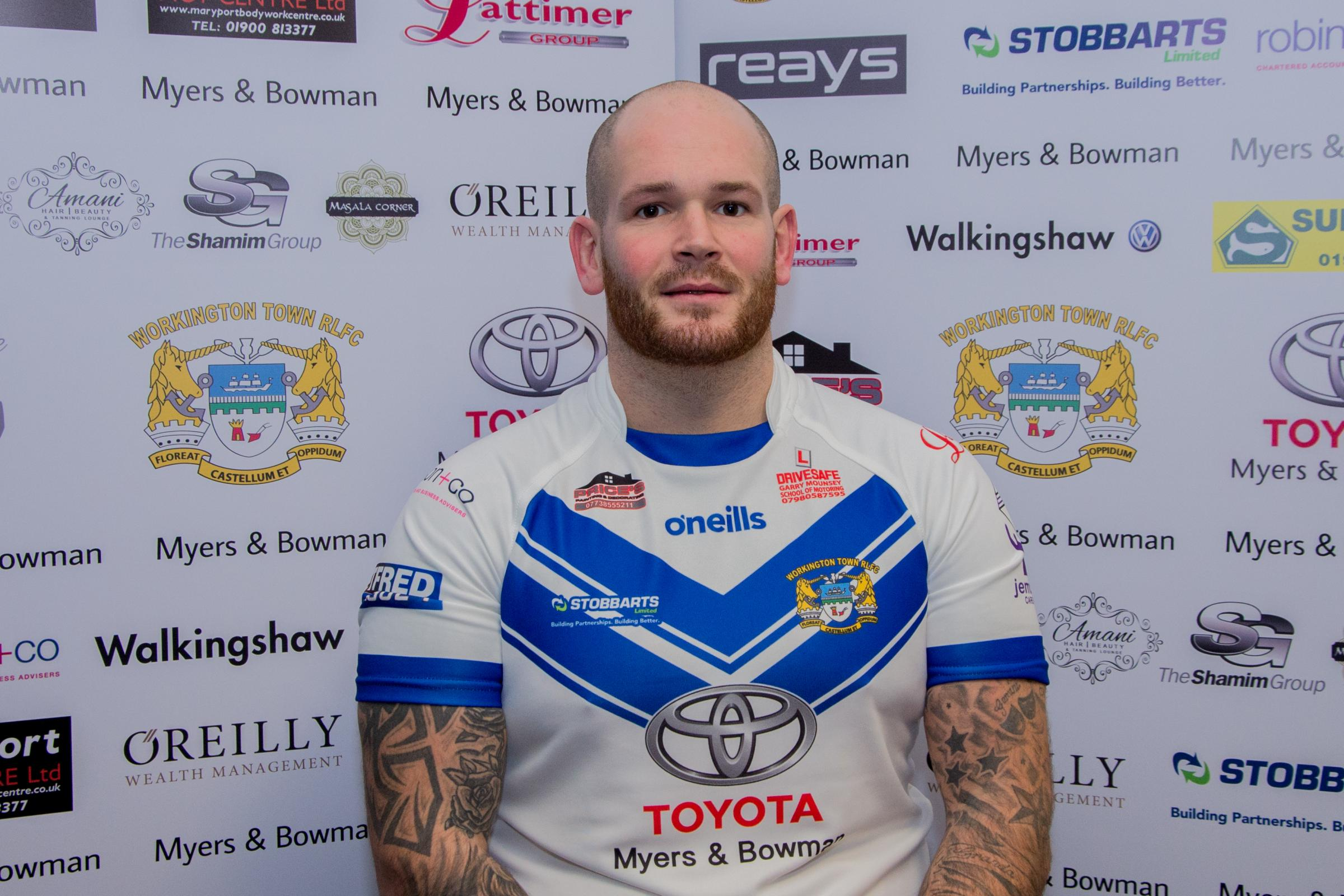 Outstanding: Workington Town's Stevie Scholey. Picture: Gary McKeating