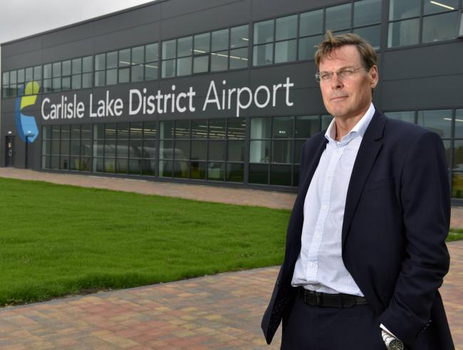 Warwick Brady Group Chief Executive Officer of Stobart Group pictured at the companies offices at Carlisle Lake District Airport: 6 August 2018..STUART WALKER...